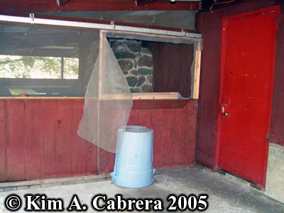 How the criminals entered the building. Photo copyright by Kim A. Cabrera 2005.